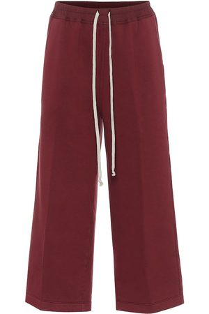 Rick Owens Dames Lange broeken - Felpa cropped cotton trackpants