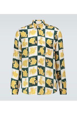 Nanushka Kaleb floral long-sleeved shirt