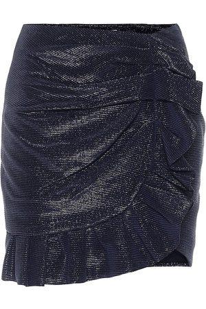 JONATHAN SIMKHAI Azalea metallic plissé miniskirt