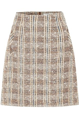 VERONICA BEARD Roman checked tweed miniskirt