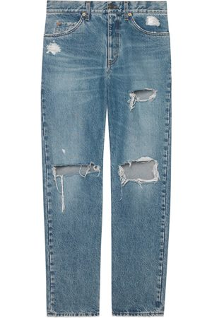 Gucci Ripped eco bleached organic denim pant