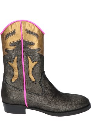 Shoesme Dames Cowboy & Bikerboots - WT20W115 Black Metallic