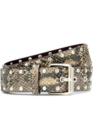DRIES VAN NOTEN Snake-effect leather belt