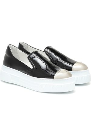 Miu Miu Flatform leather sneakers