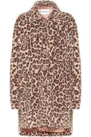 Stand Studio Sabi leopard-print faux fur coat