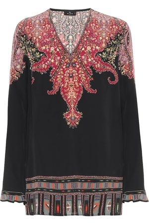 Etro Paisley silk top