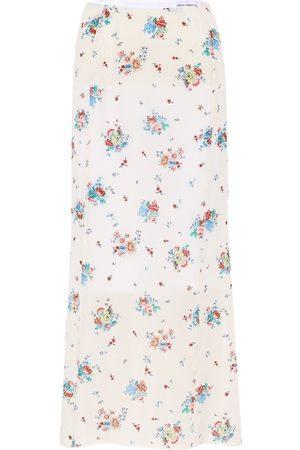 Paco rabanne Dames Midi rokken - Floral crêpe midi skirt
