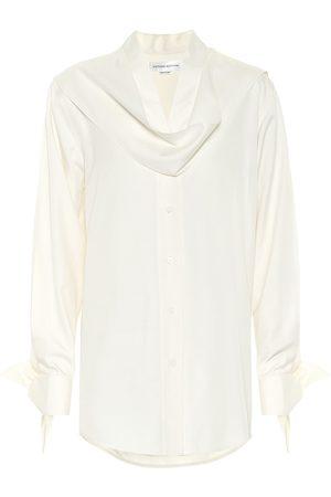 Victoria Beckham Dames Blouses - Silk-poplin blouse