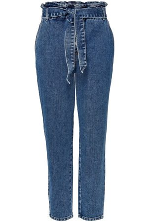Only Dames High waisted - Onljane Hw Button Paperbag Belt High Waisted Jeans Dames