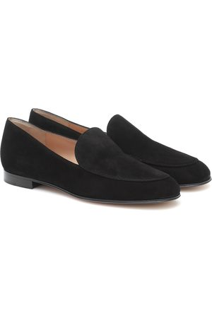 Gianvito Rossi Dames Loafers - Marcel suede loafers