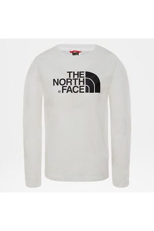 The North Face The North Face Easy T-shirt Met Lange Mouwen Voor Jongeren Tnf White Größe L Unisex