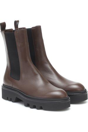 DRIES VAN NOTEN Dames Enkellaarzen - Leather platform Chelsea boots