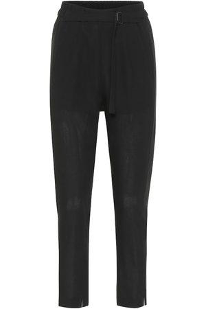ANN DEMEULEMEESTER High-rise slim wool pants