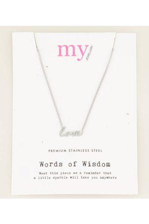My Jewellery Kettingen Ketting love Zilverkleurig