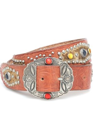 Golden Goose Texas Rodeo embellished leather belt