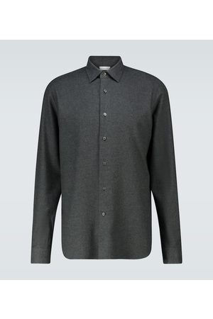 CARUSO Heren Shirts - Slim-fit long-sleeved shirt