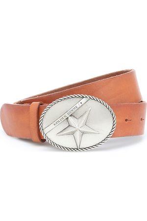 Golden Goose Star Buckle leather belt