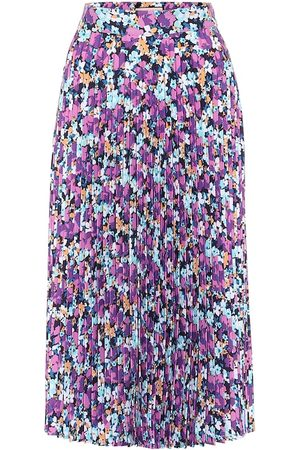 Plan C Floral pleated midi skirt