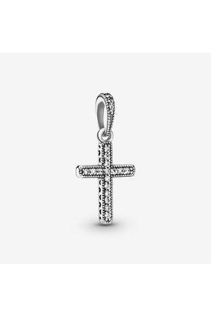 PANDORA Sprankelend Kruis Hanger, Sieraden uit Sterling zilver, Cubic Zirconia, , 397571CZ