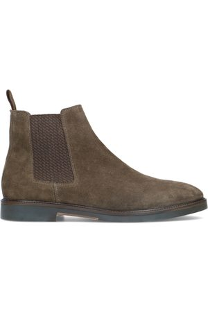 Manfield Taupe chelsea boots