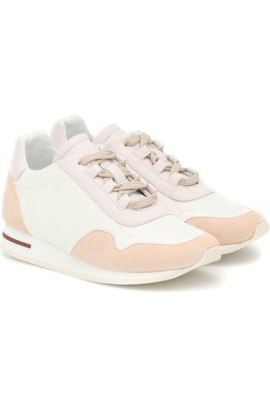 Loro Piana Meisjes Sneakers - My Wind suede-trimmed sneakers