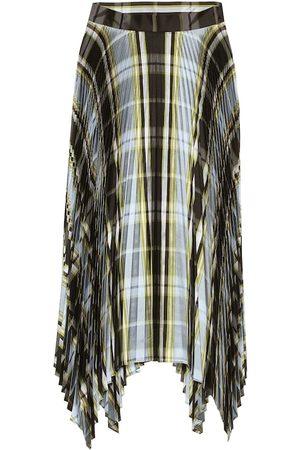Tory Burch Dames Midi rokken - Checked pleated silk midi skirt