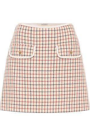 Miu Miu Dames Korte & Mini rokken - Checked virgin wool miniskirt