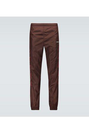 OFF-WHITE Diagonals nylon trackpants