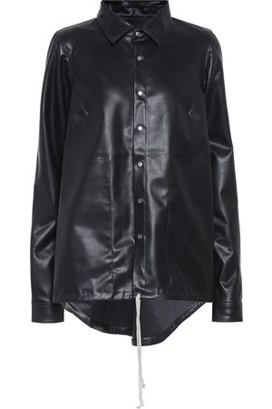 Rick Owens DRKSHDW faux leather shirt jacket