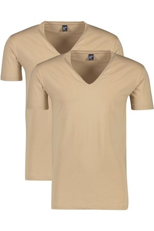Alan Red Heren Shirts - Invisible T-shirt beige 2-pack