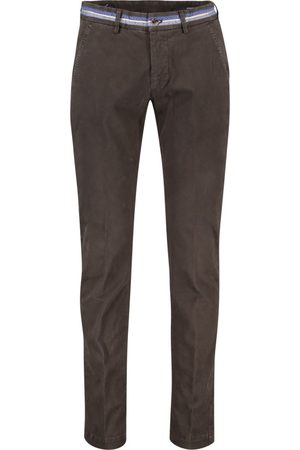 Masons Heren Chino's - Chino donkerbruin model Torino Business