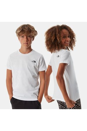 The North Face The North Face Simple Dome-t-shirt Voor Tieners Tnf White / Tnf Black Größe L Unisex