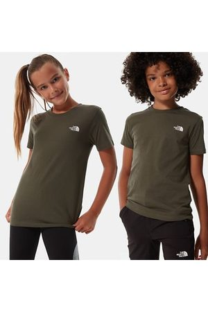 The North Face Shirts - The North Face Simple Dome-t-shirt Voor Tieners New Taupe Green Größe L Unisex