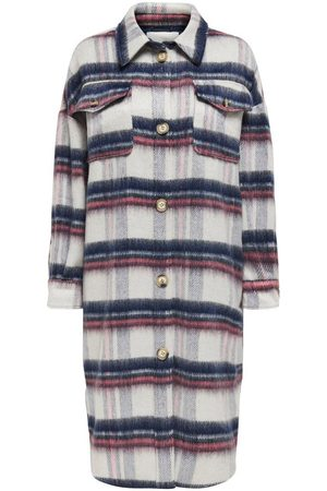 Only Dames Jacks - Long Checked Jacket Dames