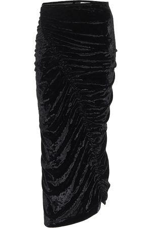 DRIES VAN NOTEN Velvet midi skirt