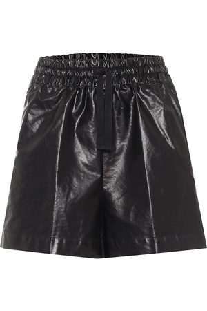 DRIES VAN NOTEN High-rise coated cotton-blend shorts