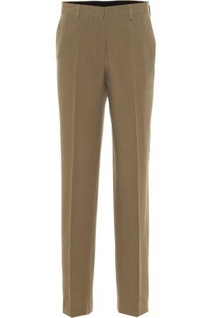 DRIES VAN NOTEN Dames Broeken - High-rise wool pants