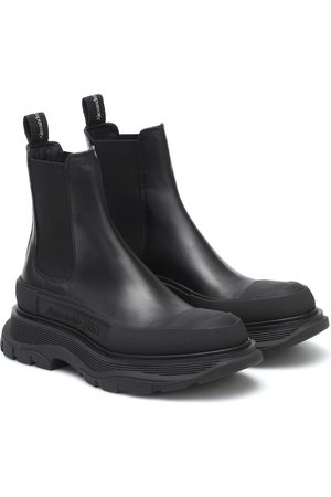Alexander McQueen Dames Enkellaarzen - Tread leather ankle boots
