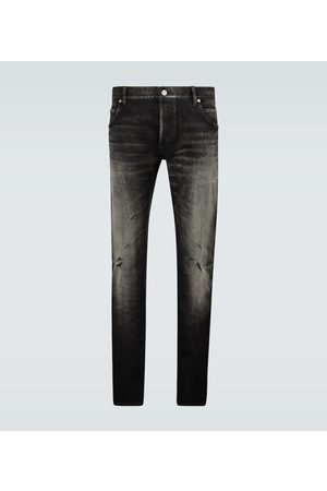 Balmain Heren Slim - Slim-fit distressed jeans