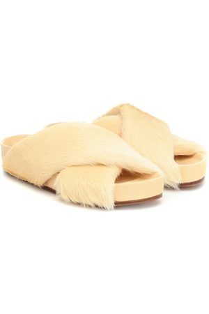 Jil Sander Shearling and leather slides