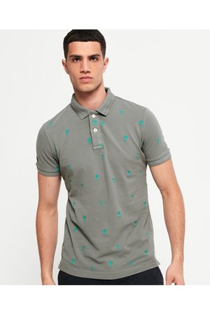 Superdry Classic Bermuda piqué poloshirt met all-over print