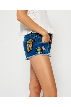 Superdry Denim Hot Shorts met patches