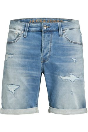 JACK & JONES Heren Shorts - Rick Icon Ge 009 Indigo Knit Denim Short Heren