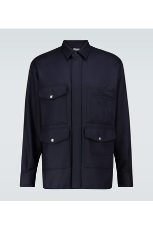 CARUSO Wool twill safari jacket