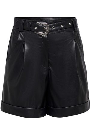 Only Dames Shorts - Faux Leather Shorts Dames