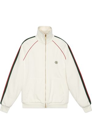 Gucci Jersey zip-up sweatshirt with Web