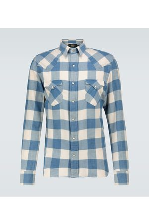 RRL Cotton-linen checked flannel shirt