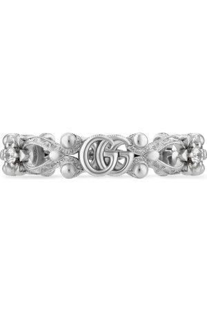 Gucci Flora 18k ring with diamonds