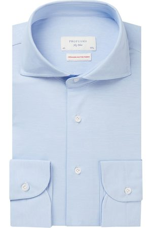 Profuomo The knitted shirt lichtblauw