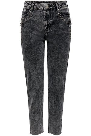Only Dames Straight - Onlwild Emily Hw Acid Ankle Straight Fit Jeans Dames